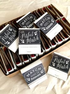 Practical Wedding Favors - Matches